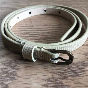 Ivory coloured high waisted belt